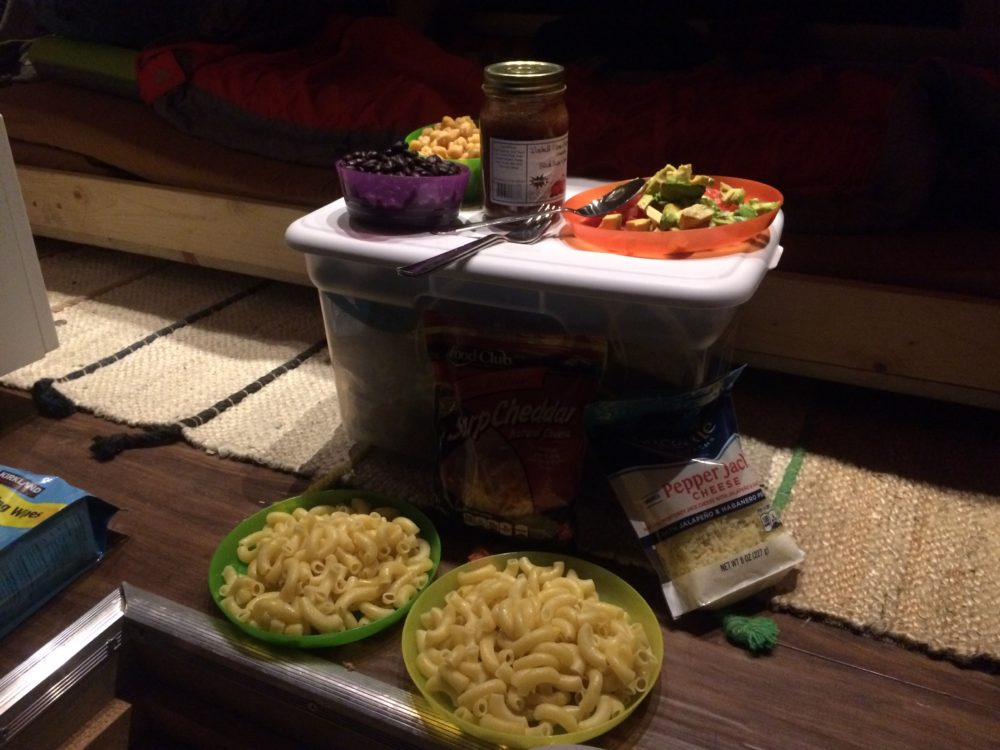 #vanlife nacho pasta, camp food, camping recipes, living in a van, cooking in a van, van recipes