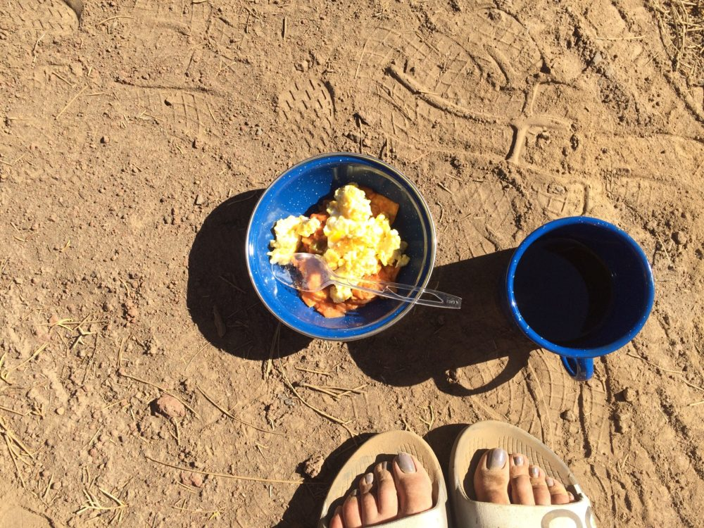#vanlife migas, camp food, camping recipes, living in a van, cooking in a van, van recipes