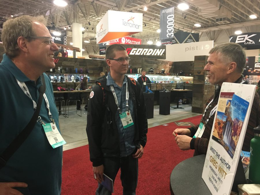 Outdoor Retailer Winter Market, Salt Lake City, Greg Witt, Wilderness Press