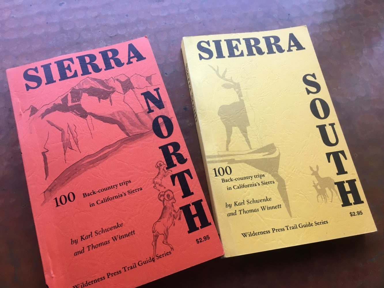 Wilderness Press 50th Anniversary, Sierra North, Thomas Winnett, old guidebooks