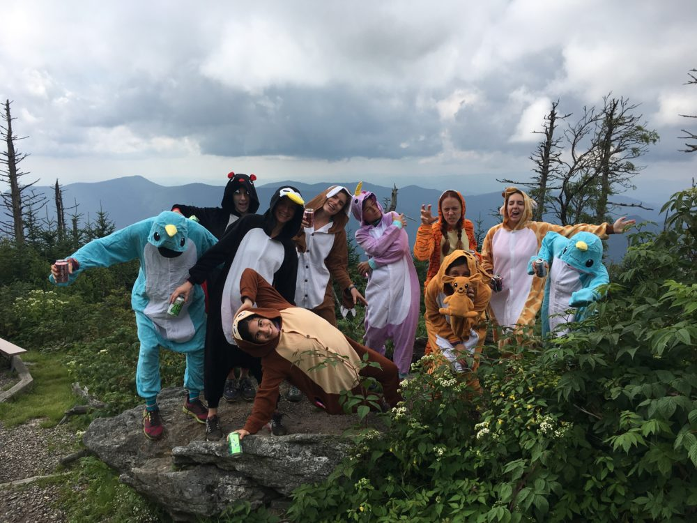 Hiking in a Onesie, Wilderness Press, hiking costumes, adult onesie