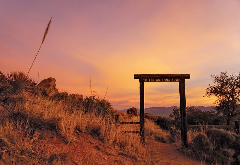 AZT gate at sunrise